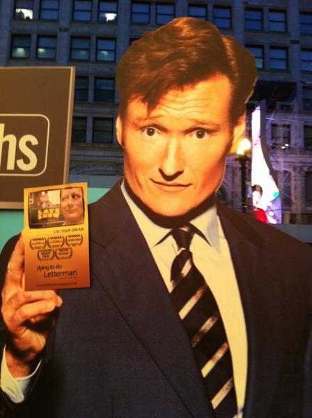 Conan obrien loves dying to do letterman